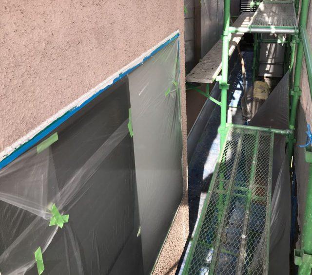 【宮崎県宮崎市】希望ヶ丘で111平方メートルの外壁と付帯部を塗装した工事足場