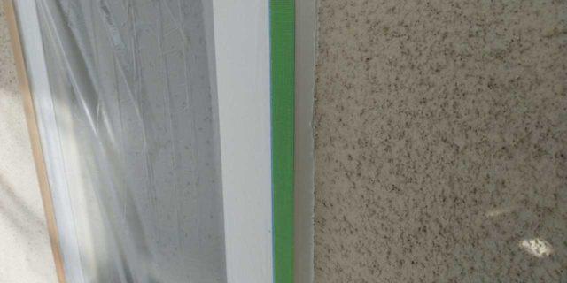 【宮崎県宮崎市】霧島にあるモルタル外壁の住宅で弾性プレミアムフィラーで塗装をした工事シーリング