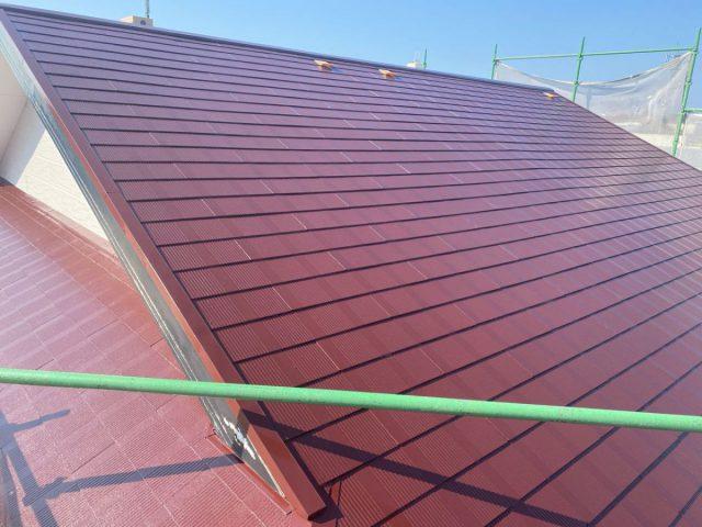 【宮崎県宮崎市】霧島の住宅でコロニアル屋根の上塗り