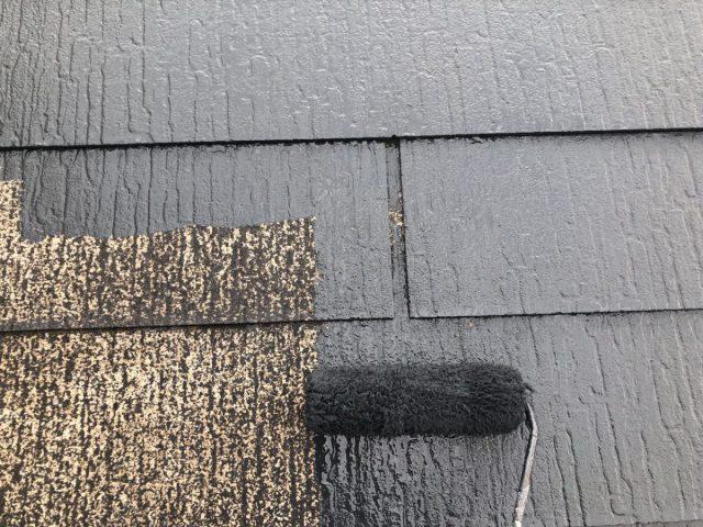 【宮崎県宮崎市】佐土原町で築19年の住宅で外壁と屋根の塗装工事屋根中塗り