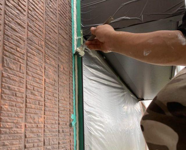 【宮崎県宮崎市】本郷にある41坪の住宅でスーパーセラタイトFを使った外壁塗装と、屋根の塗装工事シーリングおさえ