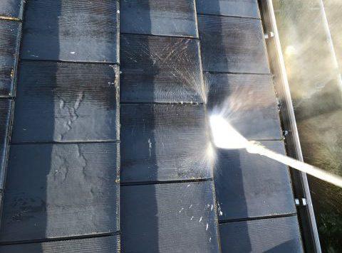 【宮崎県宮崎市】島之内でセメント瓦屋根を高圧洗浄