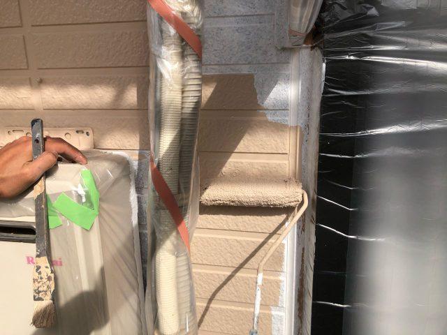【鹿児島県霧島市】隼人町でアパート3棟工事外壁中塗り