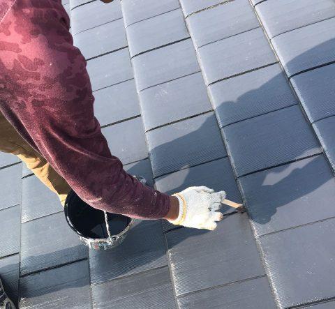 【宮崎県宮崎市】島之内でセメント瓦屋根を上塗り