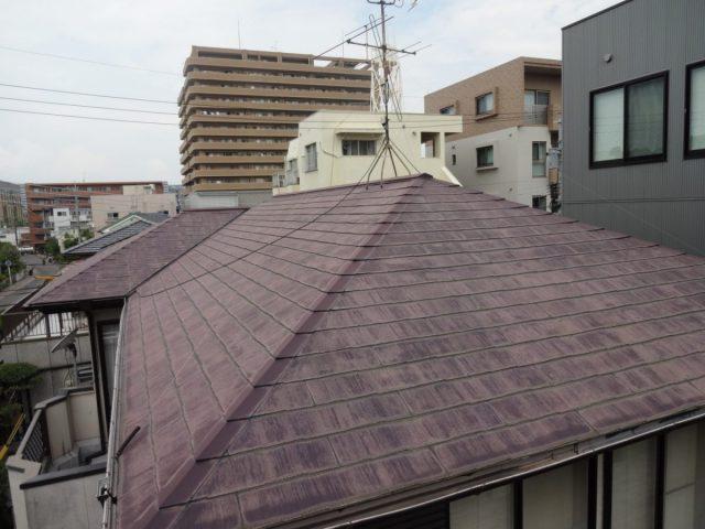 鹿児島市の屋根診断の様子