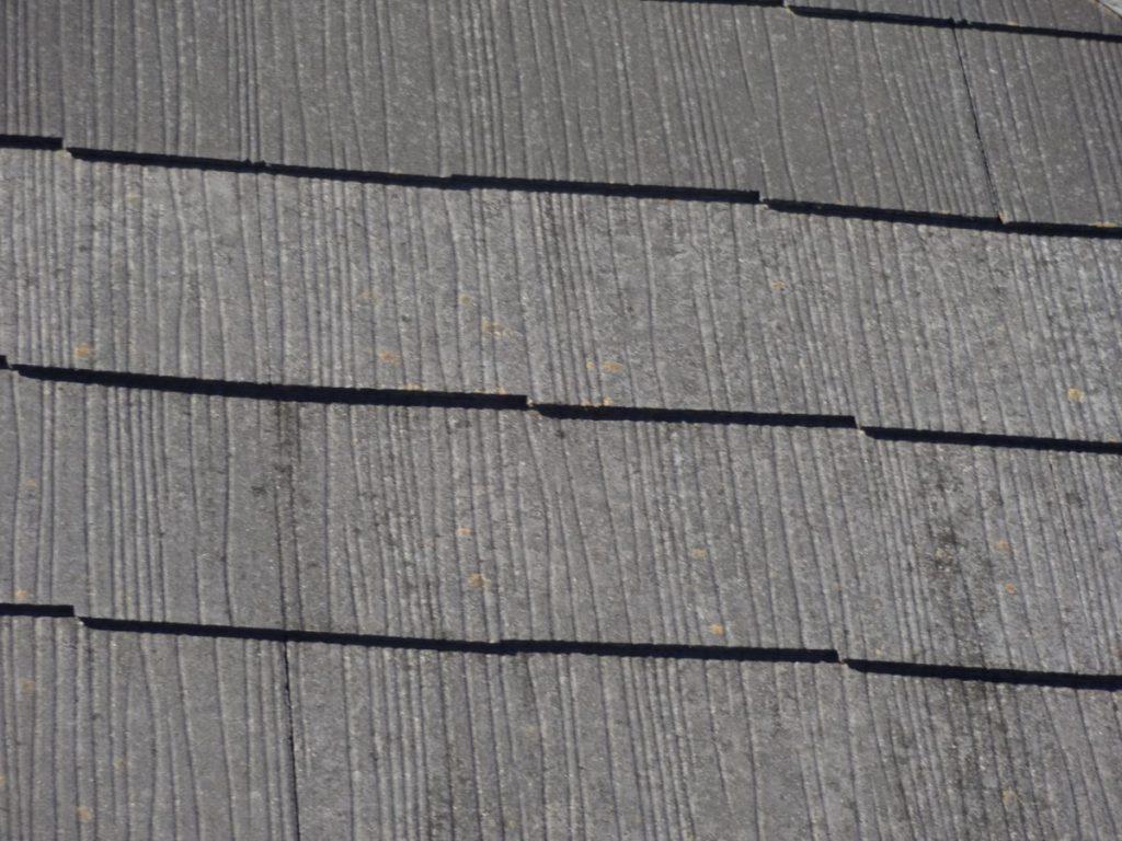 出水市屋根塗装前褪色の様子