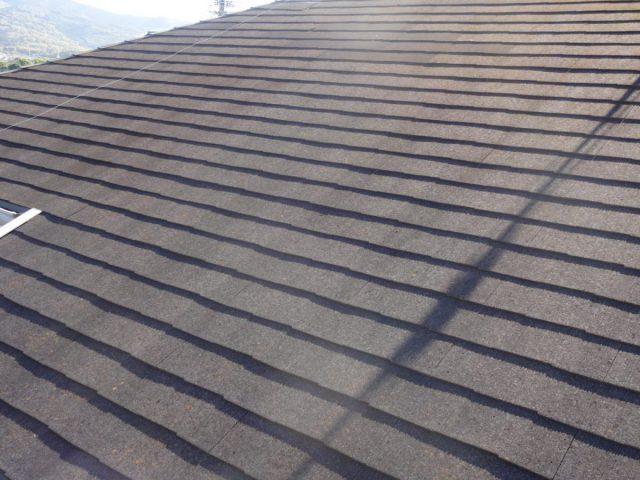 出水市屋根塗装前の様子