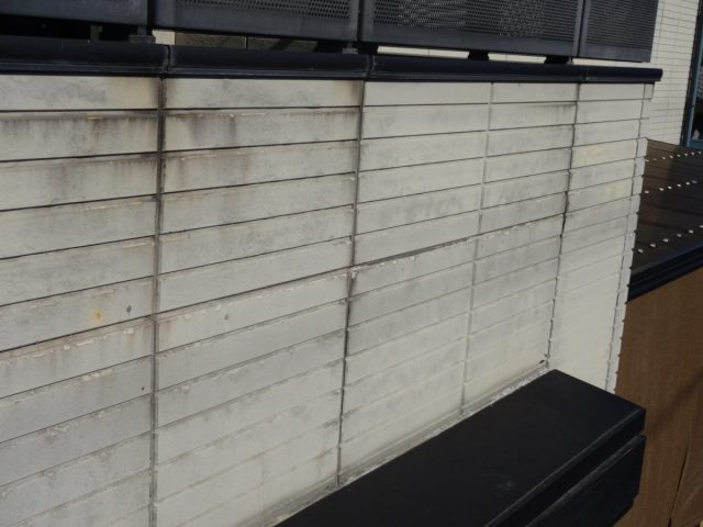 出水市ベランダ外壁の傷み