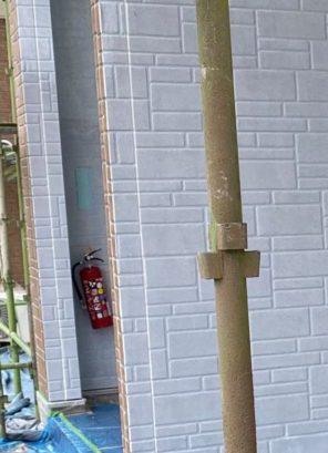 薩摩川内市アパート塗装中の様子