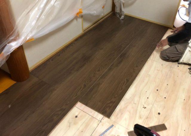 鹿児島市畳からフローリングの施工