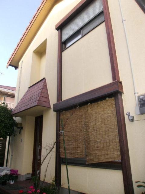 姶良市加治木町の塗装前の家