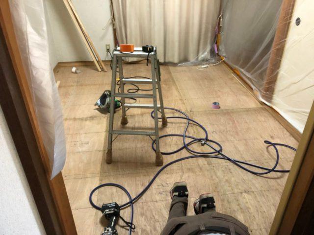 鹿児島市で畳からフローリングへのリフォーム工事