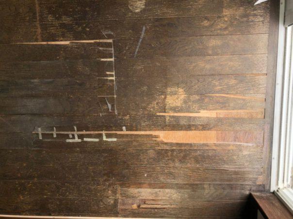 鹿児島市の床ペコ補修工事