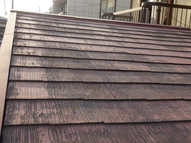 姶良市加治木町塗装前の屋根の様子