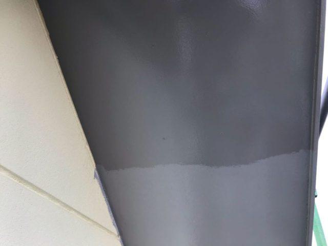 【宮崎県宮崎市】薫る坂にあるALC外壁の住宅で外壁・屋根・付帯部塗装をした工事軒天