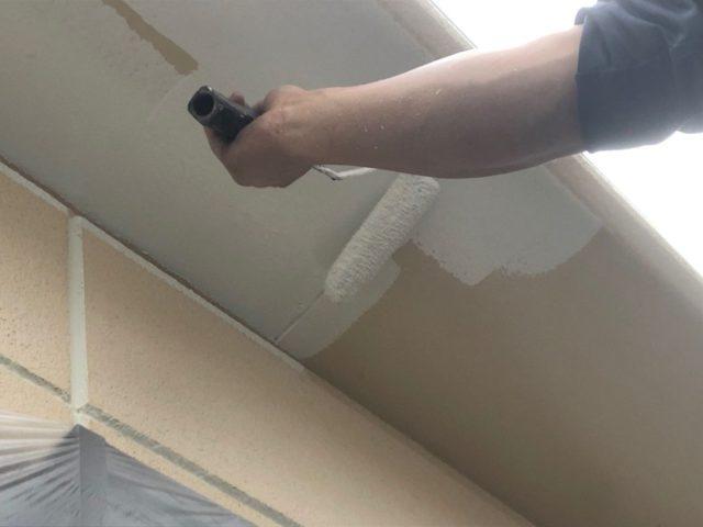 【宮崎県宮崎市】神宮にあるモニエル瓦とALC外壁の住宅で外壁・屋根・付帯部塗装をした工事軒天