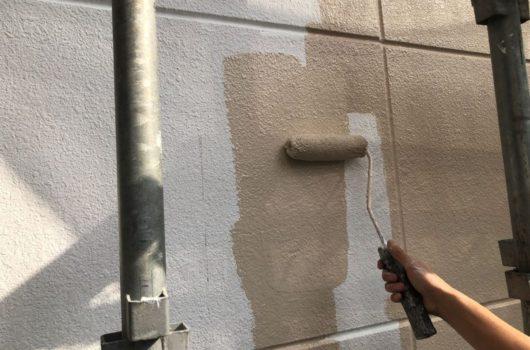【宮崎県宮崎市】神宮にあるモニエル瓦とALC外壁の住宅で外壁・屋根・付帯部塗装をした工事壁中