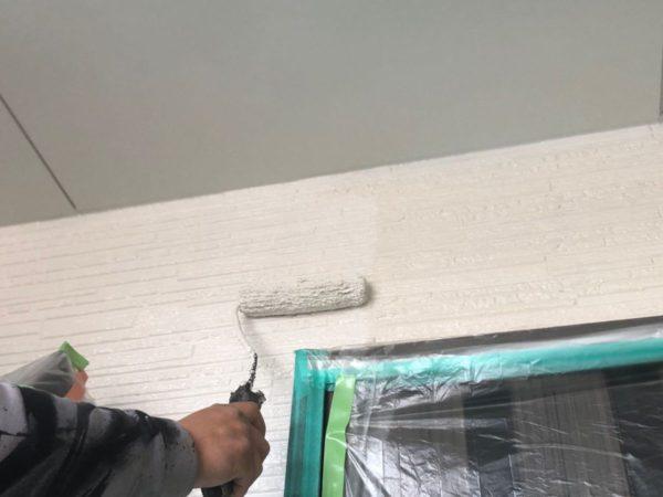【宮崎県都城市】都北町にある29坪の住宅で外壁・屋根・付帯部塗装をした工事壁中