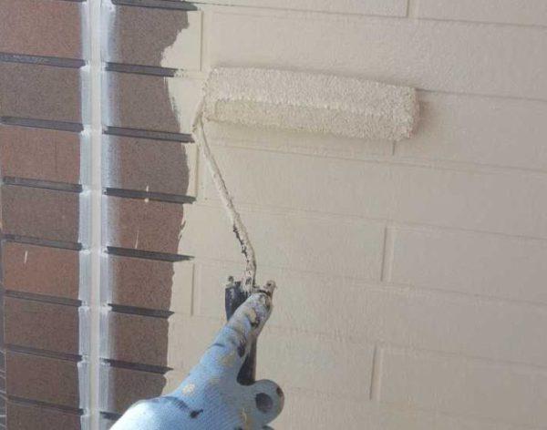 【宮崎県宮崎市】本郷南方にある粘土瓦の住宅で外壁・付帯部塗装をした工事壁中