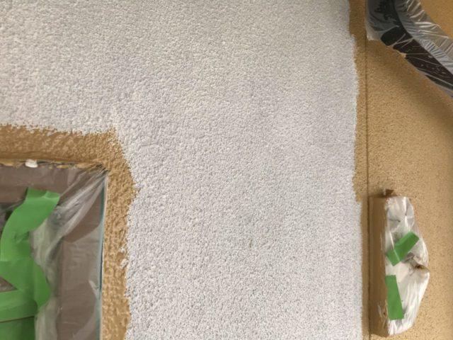 【宮崎県都城市】年見町にある陶器瓦の住宅で外壁・付帯部塗装をした工事壁中