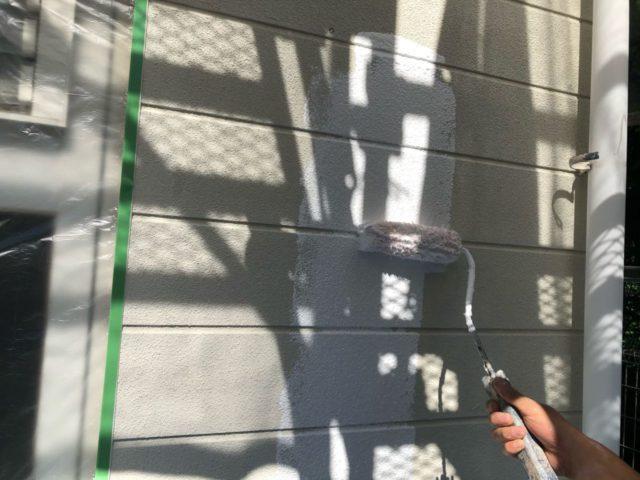 【宮崎県宮崎市】小松台西にある窯業系サイディングとセメント瓦の住宅で外壁・屋根・付帯部塗装をした工事壁下