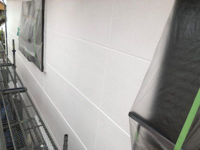【宮崎県宮崎市】神宮にあるモニエル瓦とALC外壁の住宅で外壁・屋根・付帯部塗装をした工事壁下
