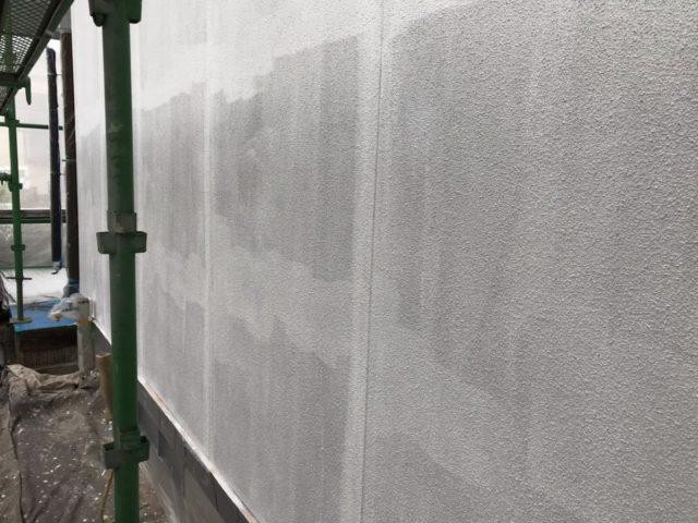 【宮崎県都城市】年見町にある陶器瓦の住宅で外壁・付帯部塗装をした工事壁下
