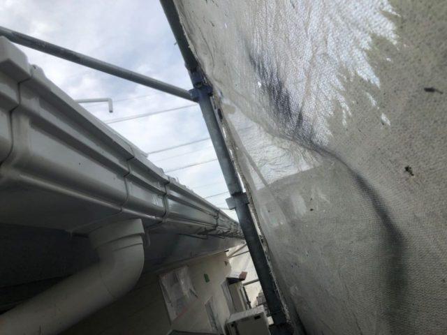 【宮崎県宮崎市】小松台西にある窯業系サイディングとセメント瓦の住宅で外壁・屋根・付帯部塗装をした工事雨樋