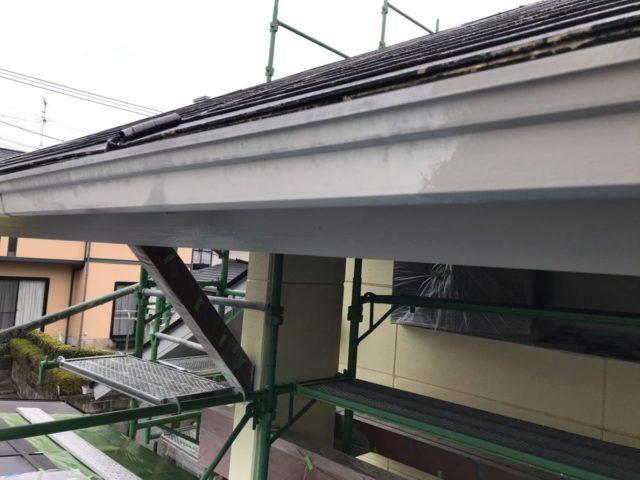 【宮崎県宮崎市】薫る坂にあるALC外壁の住宅で外壁・屋根・付帯部塗装をした工事雨樋