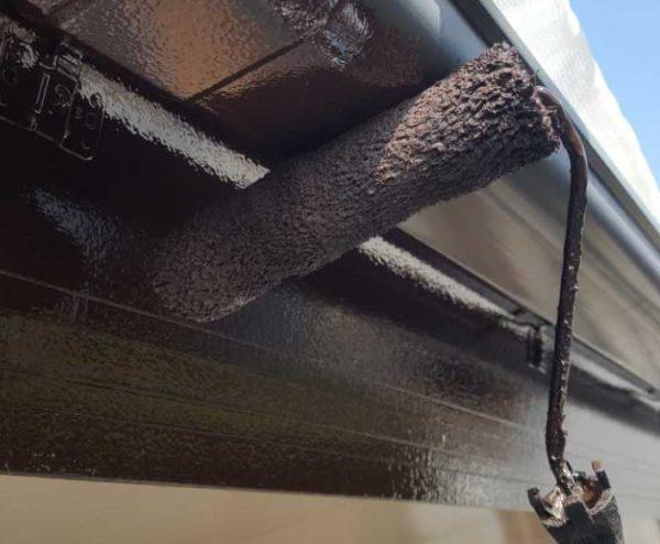【宮崎県宮崎市】本郷南方にある粘土瓦の住宅で外壁・付帯部塗装をした工事雨樋
