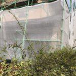 【宮崎県都城市】年見町にある陶器瓦の住宅で外壁・付帯部塗装をした工事養生
