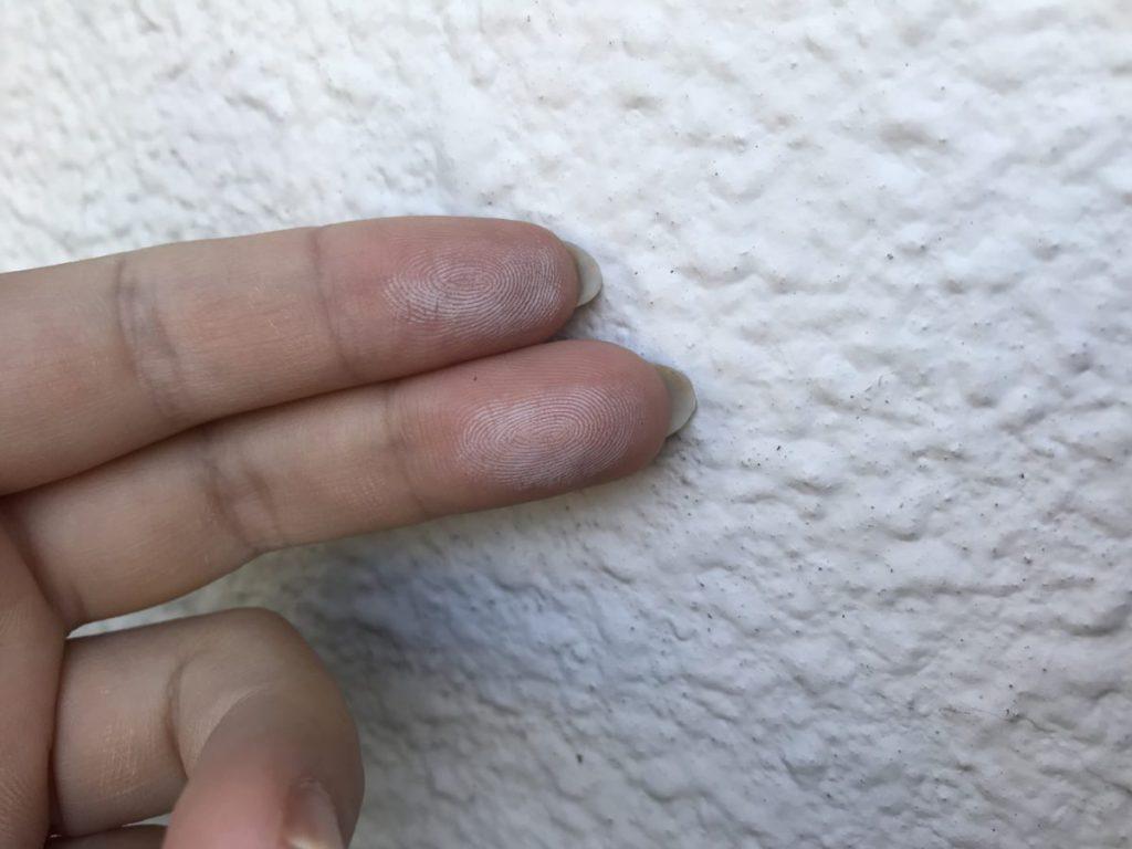宮崎市大橋外壁屋根塗装チョーキング工事前