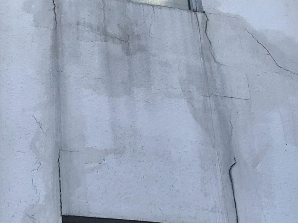 宮崎市大橋外壁屋根塗装工事前 クラック