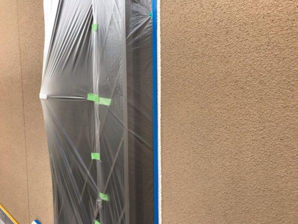 【宮崎県都城市】年見町にある陶器瓦の住宅で外壁・付帯部塗装をした工事シーリング