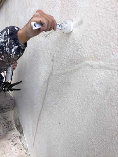 宮崎市大橋外壁屋根塗装クラック補修