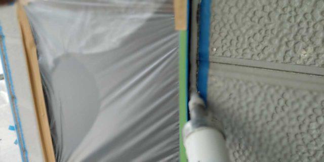 【宮崎県宮崎市】佐土原町にある赤いコロニアル屋根の住宅で外壁・屋根・付帯部塗装をした工事シーリング