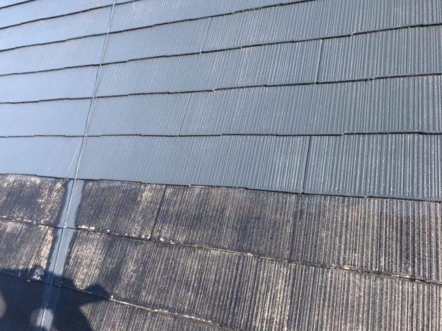 【宮崎県宮崎市】薫る坂にあるALC外壁の住宅で外壁・屋根・付帯部塗装をした工事屋根中