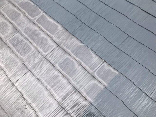【宮崎県宮崎市】跡江にあるFRP防水のバルコニーの住宅で外壁・屋根・付帯部塗装をした工事屋根中