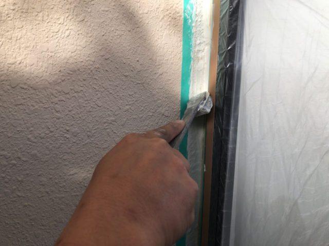 【宮崎県宮崎市】神宮にあるモニエル瓦とALC外壁の住宅で外壁・屋根・付帯部塗装をした工事シーリング