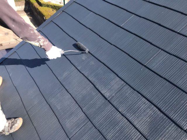 【宮崎県宮崎市】薫る坂にあるALC外壁の住宅で外壁・屋根・付帯部塗装をした工事屋根上