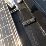 【宮崎県都城市】都北町にある29坪の住宅で外壁・屋根・付帯部塗装をした工事屋根上