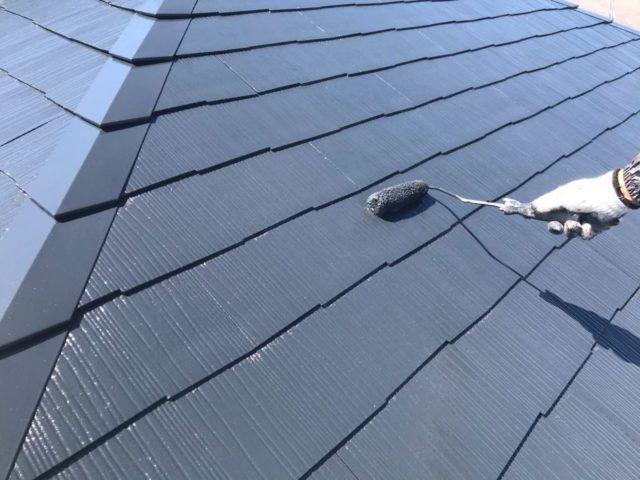 【宮崎県宮崎市】跡江にあるFRP防水のバルコニーの住宅で外壁・屋根・付帯部塗装をした工事屋根上