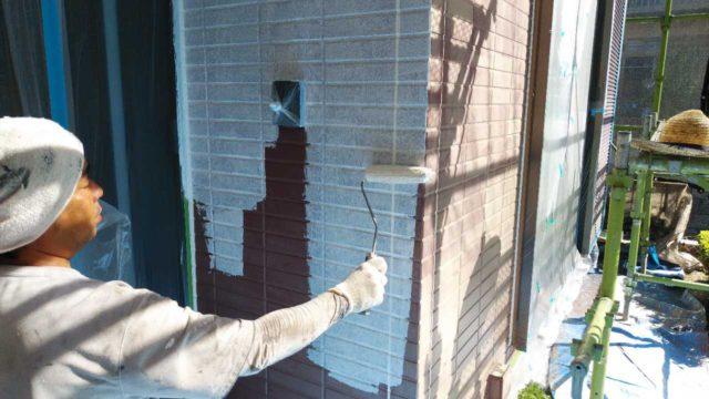 【宮崎・鹿児島地域】窯業系サイディングとスレート屋根を塗装していきます外壁下塗り_1_確定