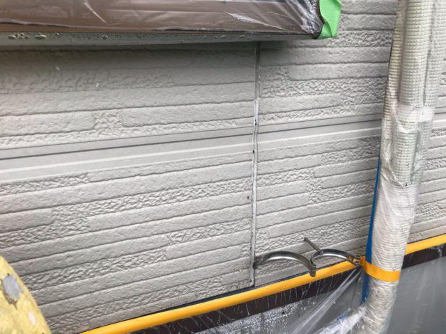 【宮崎県宮崎市】花ヶ島町立野にある45坪の住宅で外壁塗装のための足場を設置しますシール既設状況_1_確定