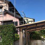 【宮崎県宮崎市】平和が丘東町にある45坪の住宅の外壁をラジカル塗装するために足場を設置しています足場設置_1_確定