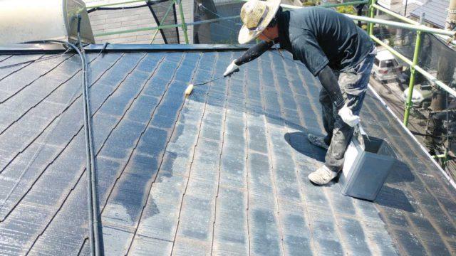【宮崎・鹿児島地域】窯業系サイディングとスレート屋根を塗装していきます屋根下塗り_1_確定