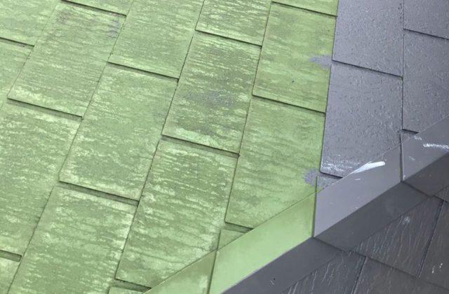 【宮崎県宮崎市】清武町池田台北にある58坪の住宅で足場を設置していきます屋根下塗り_1_確定
