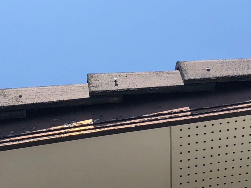 屋根の釘浮き