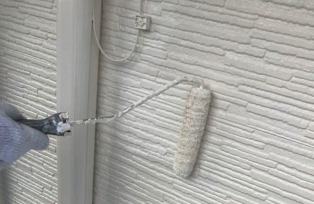 【宮崎県宮崎市】東大宮にある陶器瓦屋根の住宅でシーリング補修をします外壁上塗り_1_確定