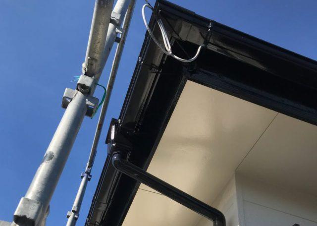 【宮崎県宮崎市】源藤町堤下にある35坪の住宅でシーリング補修をしていきます雨樋上塗り_1_確定